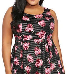 32f35e10bf torrid Dresses - Torrid Floral Print Pleated Tank Dress